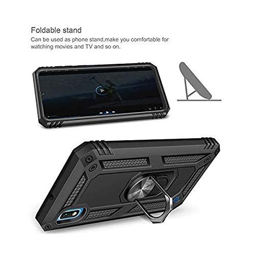 Funda Aluminio Antigolpe Samsung Galaxy S10E con Im/án y Soporte de Anilla 360/º