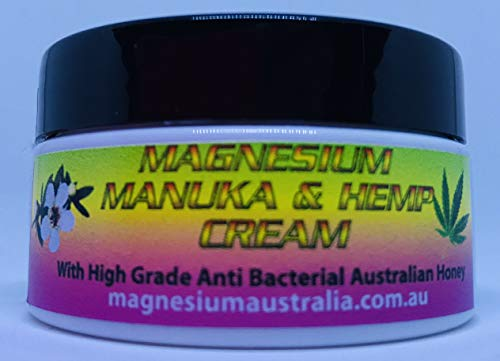 Australian made All Natural Magnesium, Manuka & Organic Hemp Topical Cream|Lotion|Salve, Anti-Bacterial Treatment Eczema Exma Dermatitis, Healthy Body Moisturiser Skin Care Anti-Ageing| Pain Relief fo (Best Homeopathic Treatment For Osteoporosis)