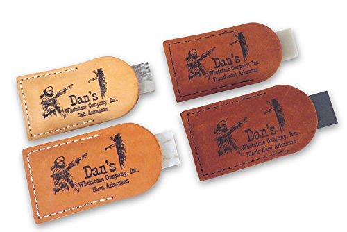 (Bundle- 4 Piece Set Arkansas Pocket Sharpening Stones 3