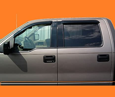 Rain Guards For Trucks >> Vent Window Shade Visor Rain Guard For Ford F150 Crew Cab 04 05 06 07 08 4 Full Size Door