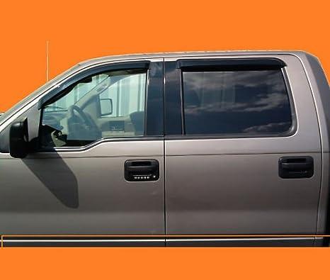 Rain Guards For Trucks >> Amazon Com Ford F150 Super Crew Vent Window Shade Rain Guard 04 08
