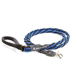 Bungee Pupee 6-Feet X-Large Leash, Blue/Black