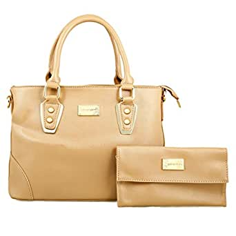 Nathan King 8832 Satchel Bag for Women - Polyurethane, Brown