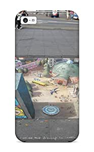 High Impact Dirt/shock Proof Case Cover For Iphone 5c (sidewalk Art )