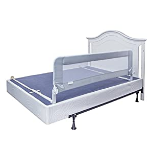 Bed Rails for Toddlers - Extra Long Toddler Bed Rail Guard for Kids Twin, Double, Full Size Queen & King Mattress - Baby Bedrail for Children (Grey XL) 15