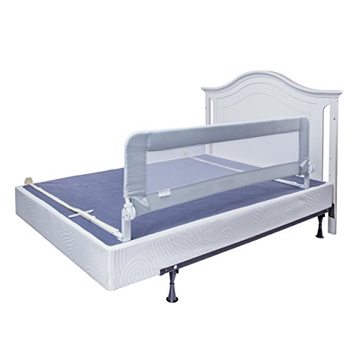 Iron Rails Bed - Bed Rails for Toddlers - Extra Long Toddler Bed Rail Guard for Kids Twin, Double, Full Size Queen & King Mattress - Baby Bedrail for Children (Grey XL)