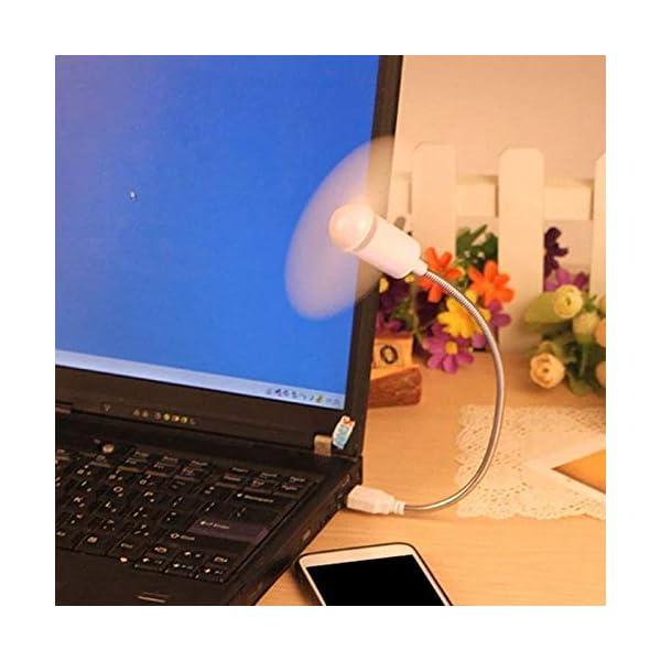 Beeria, mini ventilatore USB portatile pieghevole per computer portatile, netbook, tablet, ventola flessibile in metallo… 2 spesavip