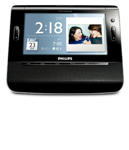 Philips USA AJL308 Clock Radio with 7-Inch TFT LCD Color Dis