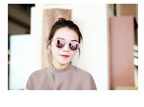 Generic Colorful round box of transparent color in Europe and America face-lift and anti-luster membrane Beautiful summer fashion sunglasses glasses women