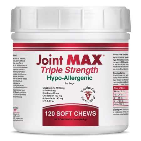 Joint MAX Triple Strength Hypo-Allergenic Soft Chews for Dogs – Hip and Joint Support Supplement with Glucosamine…