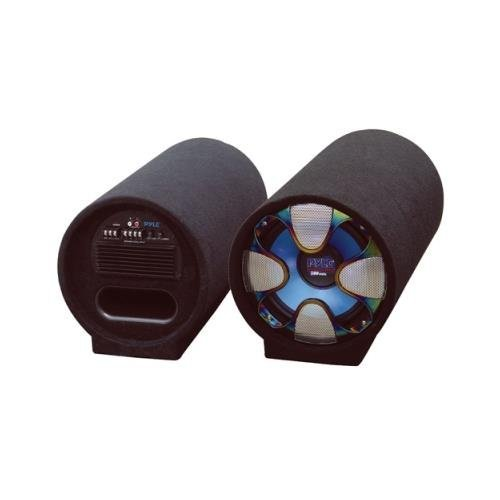 Pyle Pltab8 8'' 250w Amplified Car Subwoofer Sub Tube