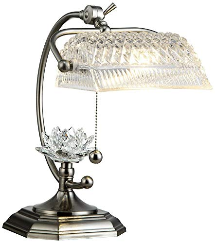 (Dale Tiffany GT12208 Althea Desk Lamp, Satin Nickel)