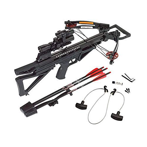 Carbon Express Intercept Varmint Hunter Crossbow Kit (Rope Cocker, 3 Bolt Quiver, 3 Crossbolts, Rail Lubricant, 3 Practice Points, 4x32 Scope)