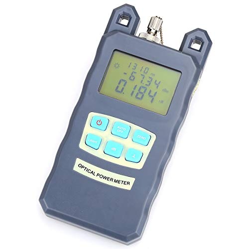 Handheld Portable Adjustable Optical Power Meter -70~+10dB Cable Tester with FC/SC Interfaces and LED Display Wavelength Range in 850~1625nm for CATV Test, CCTV Test and Telecommunication by KELUSHI