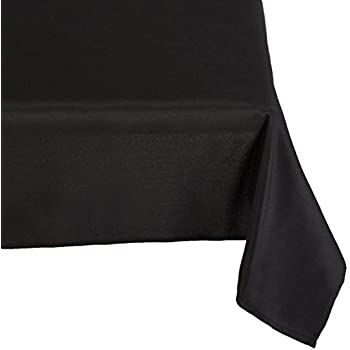Gee Di Moda 90-Inch-by-132-Inch Polyester Rectangular Tablecloth, Black