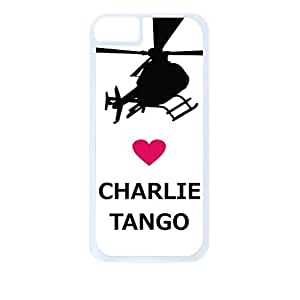 Love Charlie Tango -Hard White Plastic Snap - On Case with Soft Black Rubber Lining-Apple Iphone 5 - 5s - Great Quality!