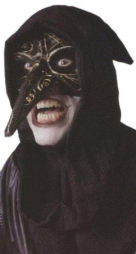Venetian raven mask black (Venetian Raven Mask Costume)