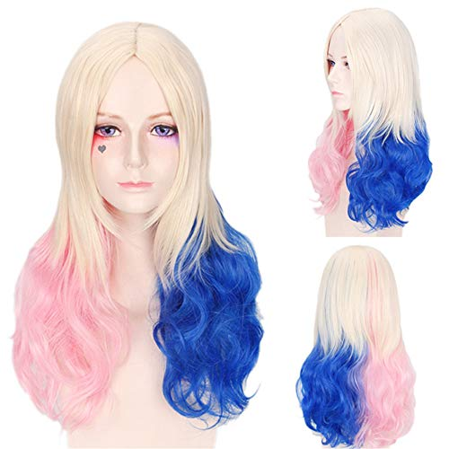 JJNGJ Colorful High Temperature Wigs for Women - Natural Looking Long Wavy Cosplay Wigs,Synthetic Wigs for Women (Colorful) ()
