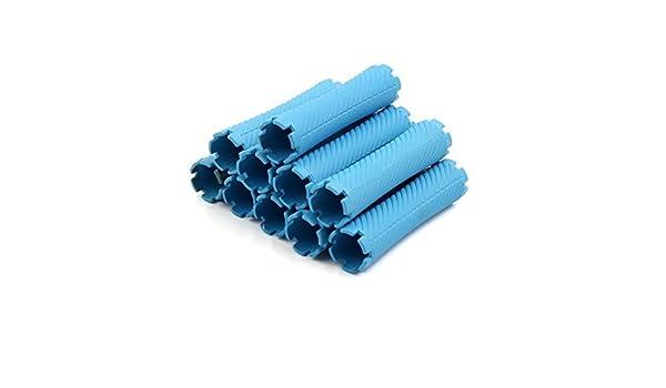 Amazon.com: eDealMax 10pcs plástico Azul de Estilismo Herramientas mismo sosteniendo rizador de Peinado Fabricante: Health & Personal Care