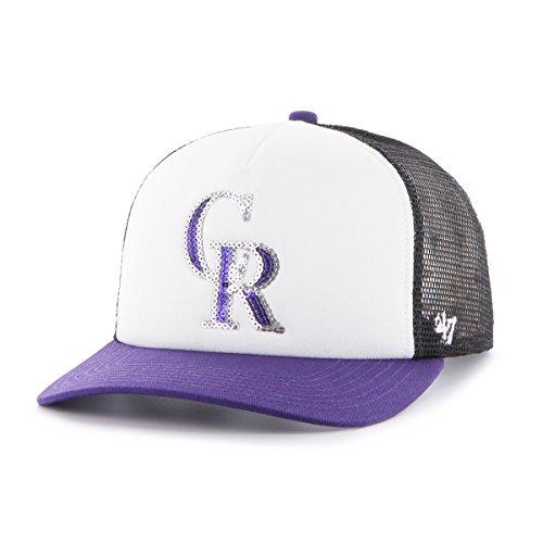 '47 MLB Colorado Rockies Women's Glimmer Captain Adjustable Snapback Hat, Black