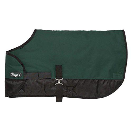 Tough 1 600D Waterproof Poly Adjustable Foal Blanket, Hunter Green, Large