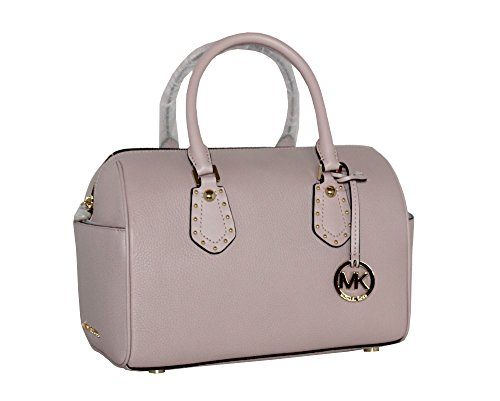 48e3975ac60a1e MICHAEL Michael Kors Women's ARIA MEDIUM Leather Satchel Studded Handbag