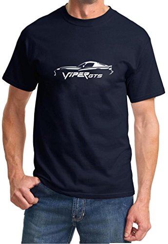 1996-02 Dodge Viper GTS Classic Outline Design Tshirt 2XL Navy Blue