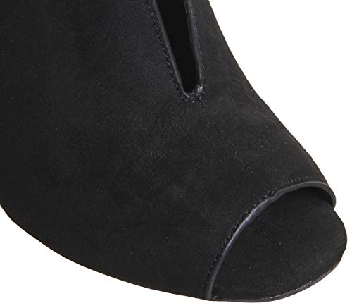 Office Boots Black Shoe Toe Halftime Peep qT817