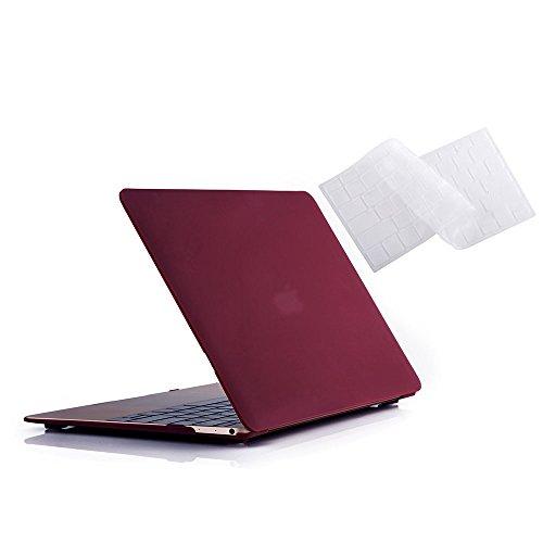 MacBook 12 Case A1534, RUBAN Plastic Hard Shell Cover and Ke