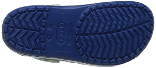Crocs Unisex Crocband Holiday Lights Zueco Mule Blue Jean / Blanco