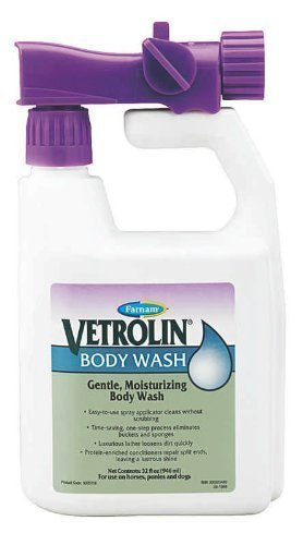 Vetrolin Body Wash for Horses, Ponies, and Dogs (32 Ounce Bottle)