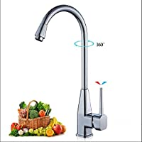 HRFFCLH Household Hot and Cold Sink Copper Core Valve Body Rotatable Laundry Pool Stainless Steel Sink Faucet