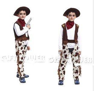 NEW -COS ropa disfraces de Halloween western jeans desgaste ...