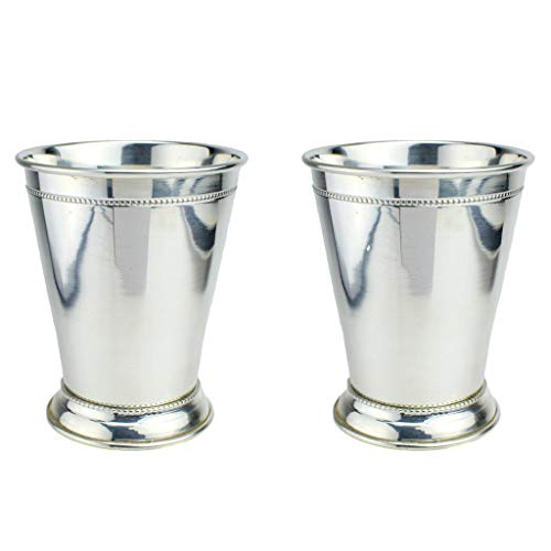 Prince of Scots 100% Pure Copper Mint Julep Cup with Pure Silver Plate (Set of 2) (Julep Cup)