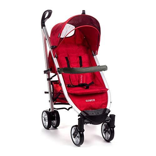Carrinho de Bebê Umbrella Deluxe Plus com Barra Cosco - Vermelho