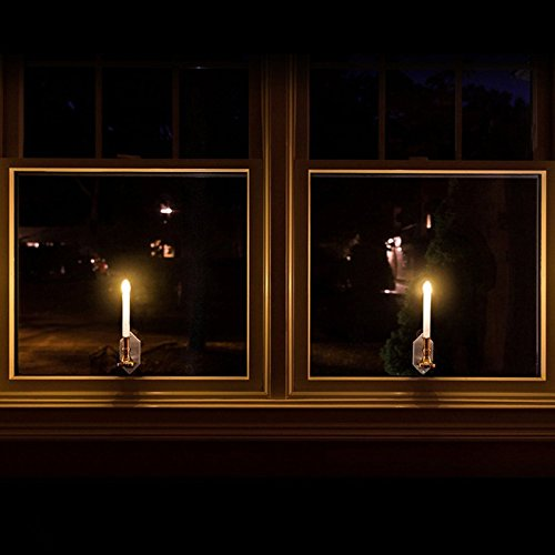 Aoile 2Pcs Solar Power Romantic Candle Light Wall Lamp for Outdoor Wall Window Fence Decor by Aoile (Image #1)