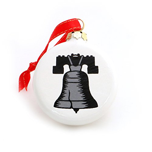 Silver Bells Philly Style - Liberty Bell - Silver Bell Christmas Ornament