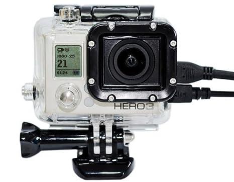 Joyoldelf Carcasa de esqueleto compatible con todos los Gopro Hero4 Hero3 + cámaras
