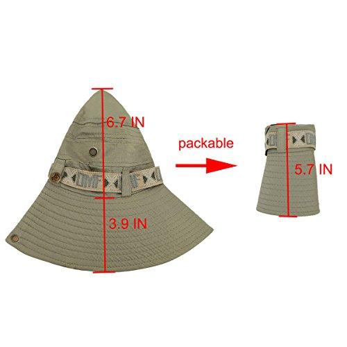 b9e31f78affd9 LETHMIK Fishing Sun Boonie Hat Waterproof Summer UV Protection Safari Cap  Outdoor Hunting Hat
