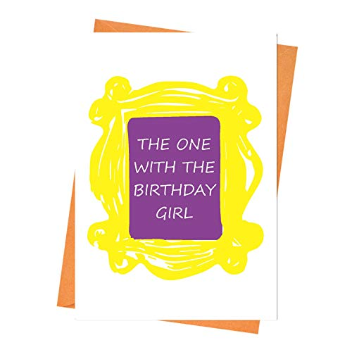 Funny Birthday Card, Friends Birthday Card, Boyfriend Birthday, Husband Birthday Card - The One with The Birthday Girl Friends Greeting Card