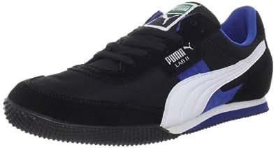Puma Men's Lab II FB Sneaker,Black/White/Snorkel Blue,7.5 D US