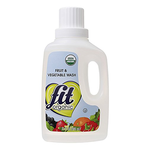 Fit Organic 32 Oz Soaker Produce Wash, Fruit and Vegetable Wash and Pesticide/Wax Remover