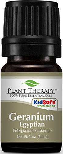 Plant Therapy Geranium Egyptian Essential Oil. 100% Pure, 5 ml (1/6 oz).