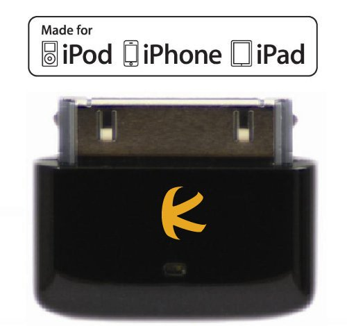 KOKKIA i10s (Black) : Tiny Bluetooth iPod Transmitter for iPod/iPhone/iPad. Works well with Apple AirPods. Plug and Play. -