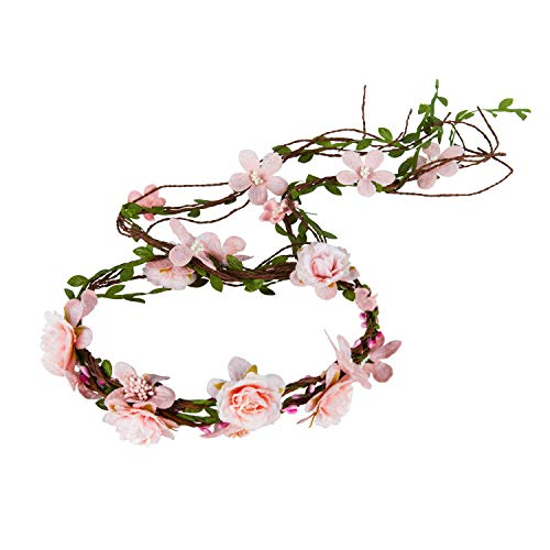 PRAYER Flower Crown Headband Floral Headpiece Bohemia Adjustable Bridal Flower Garland Hair Wreath Halo Wedding Festival Party