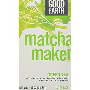 Good Earth 216930 Super Green Tea, Matcha Maker Green Tea - 18 Ct. Box