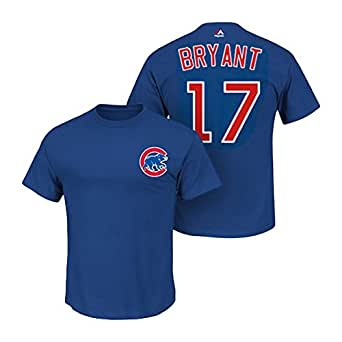 Men's Majestic Bryant 17 Player Name And Number T Shirt Blue Size XX-Large