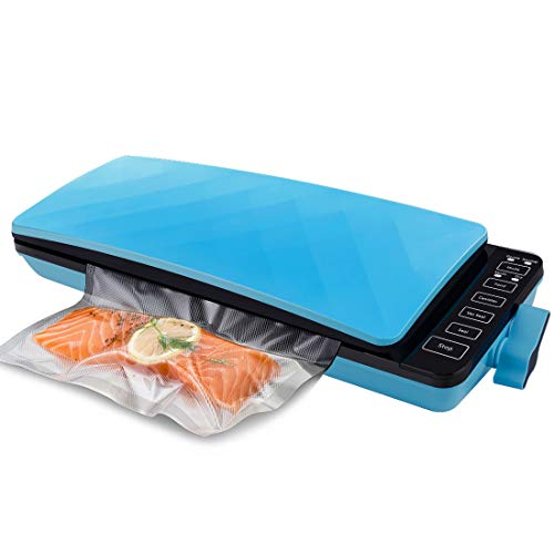 Vacuum Sealer Machine with Starter Kit, Multifunctional Automatic Digital Touch Screen Food Sealers Vacuum Packing Machine For Food Savers and Sous Vide with Moist & Dry Food Modes, Easy Lock Operation