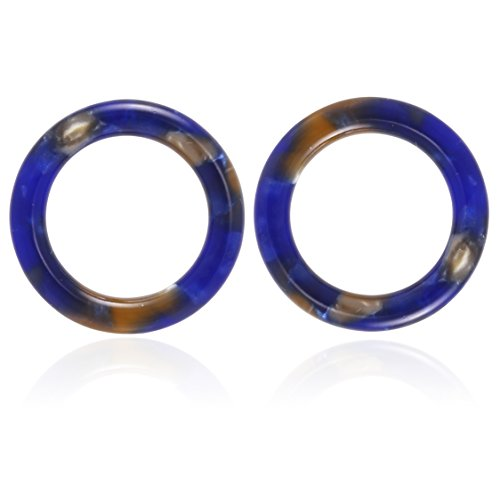 (Mottled Circle Shape Acrylic Resin Basic Stud Earrings for Women)