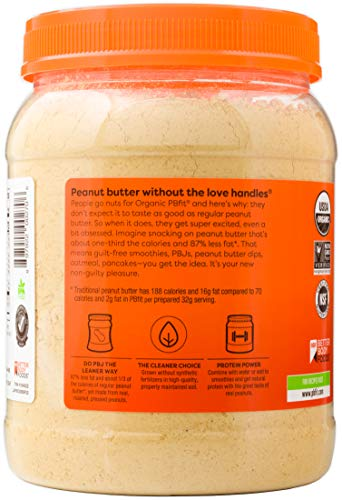 PBfit All-Natural Organic Peanut Butter Powder, Powdered Peanut Spread from Real Roasted Pressed Peanuts, 8g of Protein (30 oz.) 4